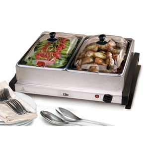 5Qt Dual Stainless Steel Buffet Server
