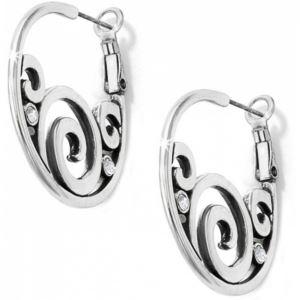 London Groove Hoop Earrings - Silver