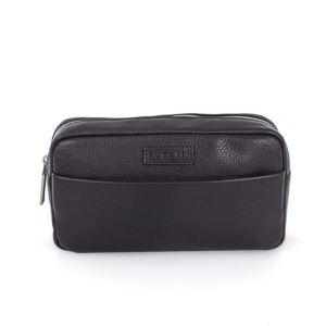 Horizon Leather Toiletry Case, Black