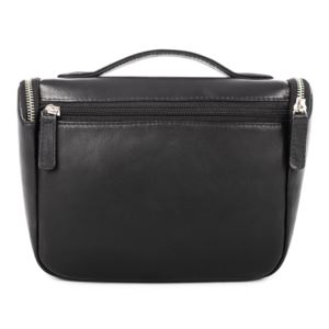 Bugatti Colombian Leather Hanging Toiletry-Black