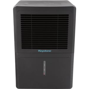 50-Pint Dehumidifier with Electronic Controls in Black