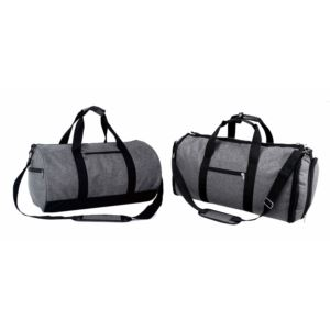 Heather Grey 2 Pc Set - Roll Bag & Convertible Duffel /Garment Bag