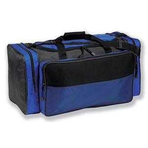 "26"" Nylon/Neoprene Duffel Bag - Royal/Black"