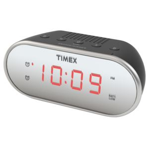"Dual Alarm Clock w/ 0.7"" Display"