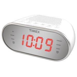 AM/FM Dual Alarm Clock w/ Mirror Finish