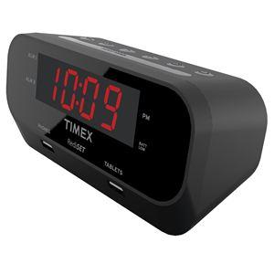 RediSet Dual Alarm Clock w/ Dual USB Charging