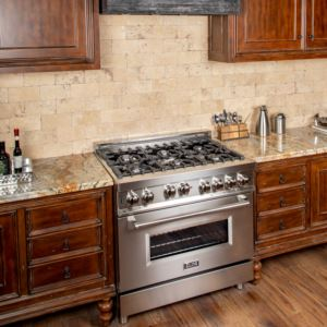 Professional 36'' Gas/Gas Range - Stainless Steel