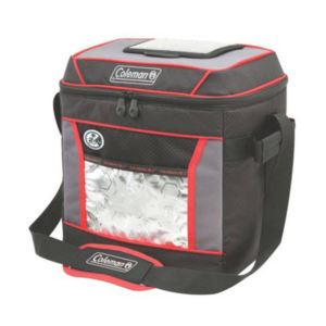 30 - Can Insulated Soft Cooler with 24 Hour Ice Retention - (Red/Black)