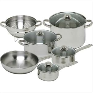 Vesta Stainless 10Pc Cookware Set