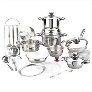 Vitaltherm Stainless 24Pc Cookware Set