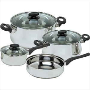 Deliss Stainless 7Pc Cookware Set