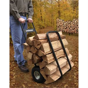 Black Firewood Caddy With Black Cover