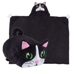 Comfy Critters Plush Huggable Hooded Blanket - Chloe The Cat