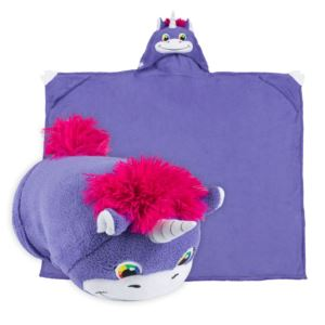 Comfy Critters Plush Huggable Hooded Blanket - Unity The Unicorn