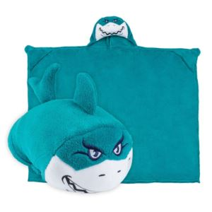 Comfy Critters Plush Huggable Hooded Blanket - Seymour The Shark