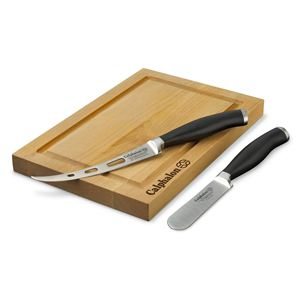 Contemporary Cutlery 3 Pc. Cheese Knives & Board Set