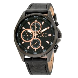 46mm - Mens Analog Leather Watch