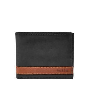 Quinn Mens Flip ID Bilfold Wallet Black