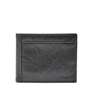 Neel Mens Flip ID Bifold Wallet Black