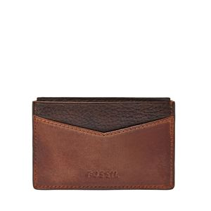 Quinn Leather Card Case Brown