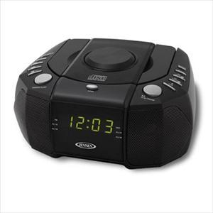 Dual Alarm Clock Radio with CD Player