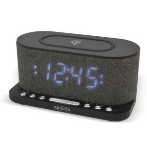 Dual Alarm Clock Radio with Wireless Qi Charging
