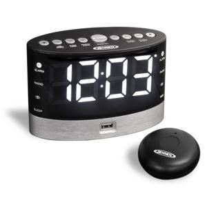 AM/FM Dual Alarm Clock Radio with Wireless Under Pillow Vibrator