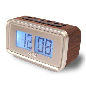 AM/FM Dual Alarm Clock with Digital Retro Flip Display