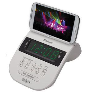 Bluetooth Clock Radio with Cellphone Holder