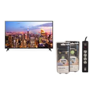 KIT 65'' 4K LCD TV w/ Accessory Pack