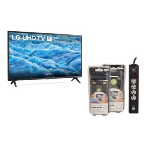 KIT 55'' 4K LCD TV w/ Accessory Pack