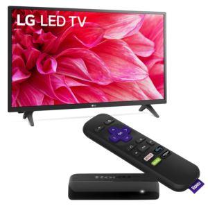 KIT 32'' HD 720p LED TV w/ Roku Player