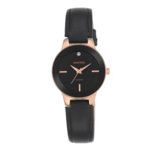 Women's Diamond Accent Leather Strap Watch