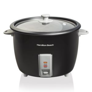 30 Cup Rice Cooker & Food Steamer Black