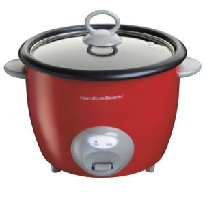 20-Cup Rice Cooker & Food Steamer Red
