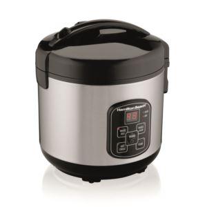 8 Cup Sealed Lid Digital Rice Cooker Black