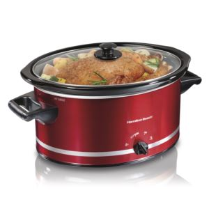 8qt Oval Slow Cooker Red