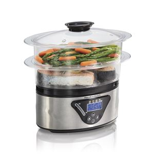 5.5 Qt 2 Tier Digital Food Steamer