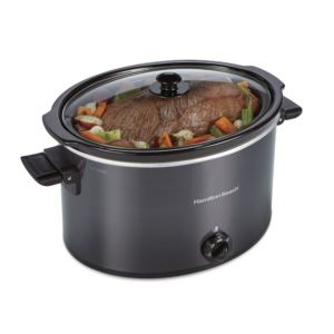 10qt Extra Large Capacity Slow Cooker Black
