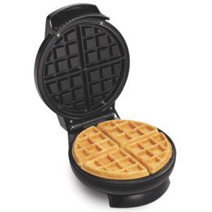 Round Belgian-Style Waffle Maker