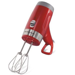ErgoMix Ergonomic 6-Speed Hand Mixer Red