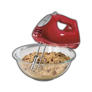 ensemble Hand Mixer with Snap-On Case Red