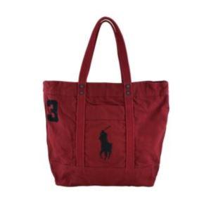 Polo Ralph Lauren - Big Pony Zip Tote - Park Avenue Red