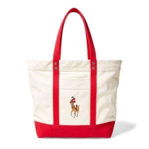 Polo Ralph Lauren - Big Pony Zip Tote - Red