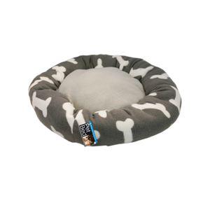 Pet Bed Grey with Bone Print