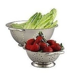 2-Piece Stainless Steel Colander Set