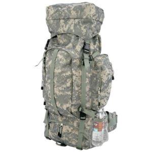 Digital Camo Water-Resistant, Heavy-Duty Mountaineer'S Backpack