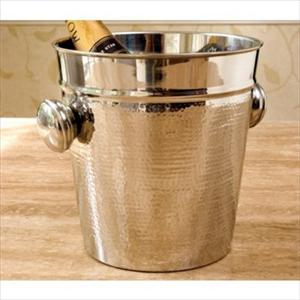 Hammered Stainless Steel Champagne Bucket