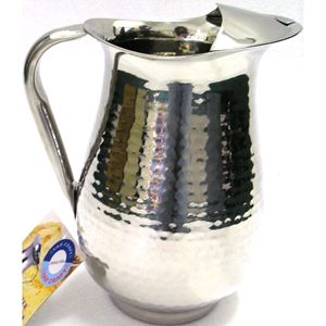72-OZ. Hammered Stainless Steel Pitcher