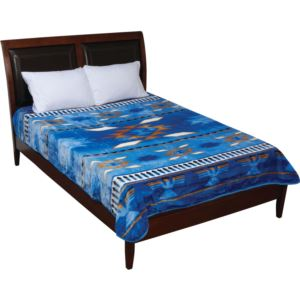 Blue Native American Blanket
